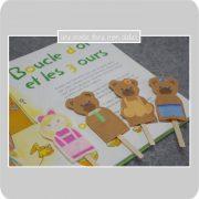 marionnettes à doigts-histoire-Boucle d'or et les 3 ours