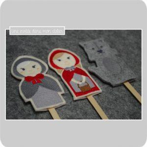 marionnettes à doigts-histoire-petit chaperon rouge