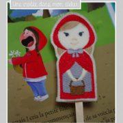 marionnettes à doigts-le chaperon rouge