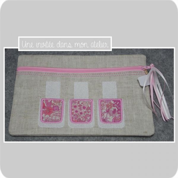 trousse vernis-Liberty margaret strawberry