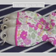 porte-clés-poisson-lin irisé-Liberty-betsy-sorbet framboise