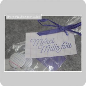magnets-tissu-cahier d'écolier-cadeau-merci maîtresse