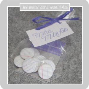 magnets-tissu cahier d'écolier-cadeau-merci maîtresse