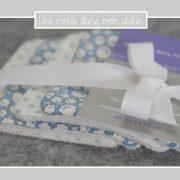 Lingettes-démaquillantes-éponge de bambou-tissu-fleur de coton