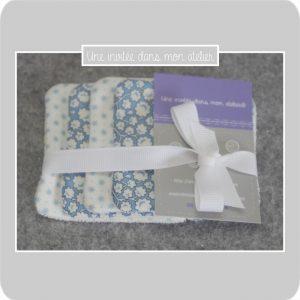 Lingettes-démaquillantes-éponge de bambou-tissu fleur de coton