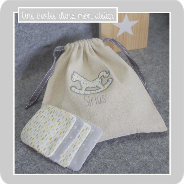 coffret cadeau de naissance-sac et lingettes lavables