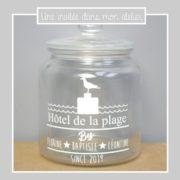bonbonnière-personnalisée-hôtel de la plage-cadeau personnalisé