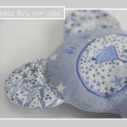 doudou-double gaze-Liberty-adelajda bleu-nounours-une invitée dans mon atelier