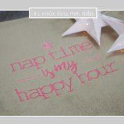 plaid-sieste-nap time is my happy hour-une invitée dans mon atelier