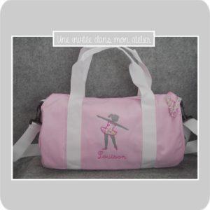 sac polochon-12litres-perspnnalisé-danseuse-Liberty-fairford rose