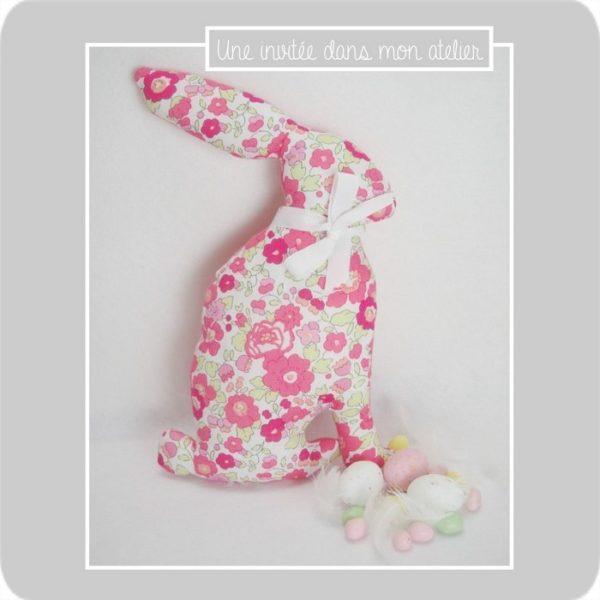 Pâques-Liberty betsy tagada-doudou lapin-une invitée dans mon atelier