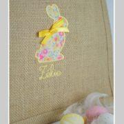 petit cabas-personnalisé-Pâques-chasse à l'oeuf-Liberty wiltshire summer garden-une invitée dans mon atelier