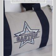 sac polochon-20 litres-personnalisé-Liberty-adelajda bleu