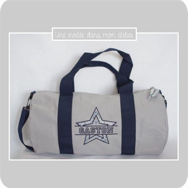 sac polochon-20 litres-personnalisé-Liberty adelajda bleu