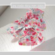 tapis à langer-poupée30cm-Liberty-wiltshire fraise