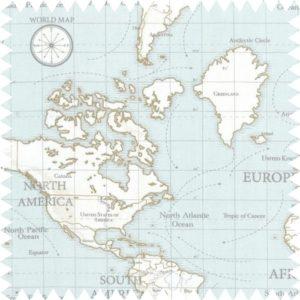 carte du monde-une invitée dans mon atelier-tissu