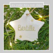 étoile à suspendre-personnalisée-Noël-une invitée dans mon atelier