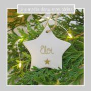 étoile personnalisée- à suspendre- sapin-Noël