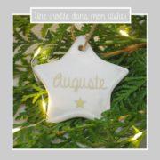 étoile personnalisée- à suspendre- sapin de Noël
